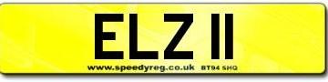 Cherished Number Plate for Elizabeth II