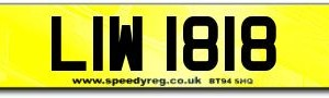 LIW Private Number Plates