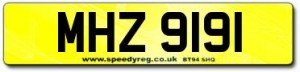 MHZ Number Plates