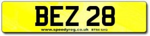 BEZ 28 Number Plates
