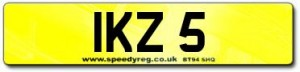 IKZ 5 Number Plates