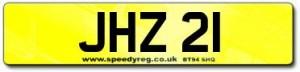 JHZ 21 Number Plates