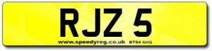 RJZ 5 Number Plates