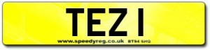 TEZ 1 Number Plates