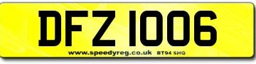 DFZ 1006 Number Plates