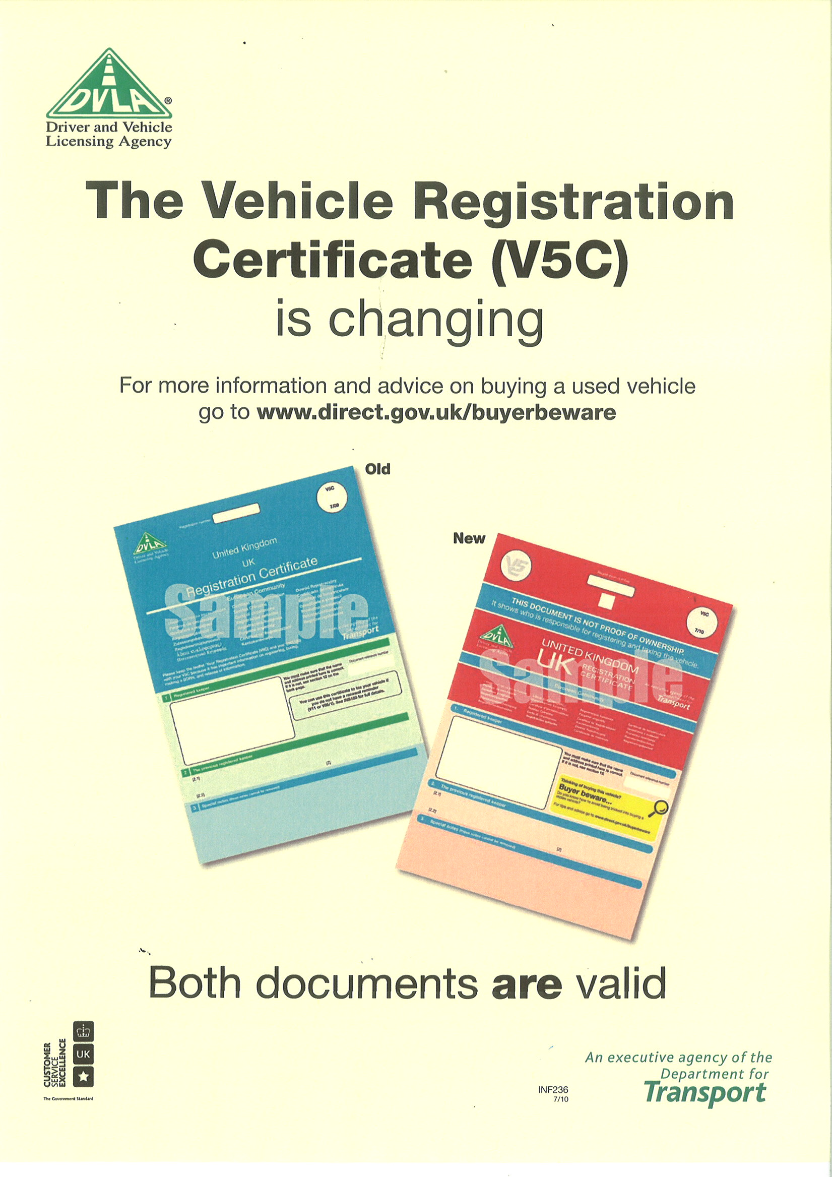 The vehicle registration certificate v5c has changed this xflitez Images