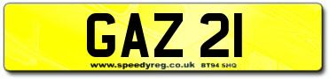 GAZ 21 Registration