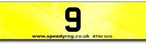 9 Numberplates