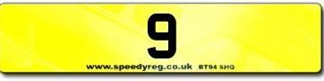 9 Numberplates