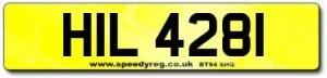HIL 4281 Number Plates