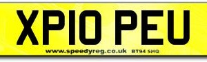 Pope's Number Plate