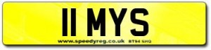 11 MYS Number Plates