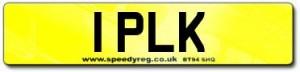 1 PLK Number Plates