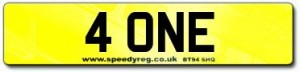 4 ONE Number Plates