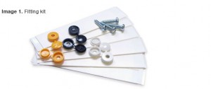 Standard Number Plate Fixing Kit