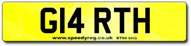 Prefix Style Number Plates