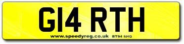 Prefix Style Number Plates