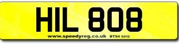 Bob Hill Number Plates