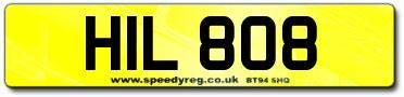 Bob Hill Number Plates