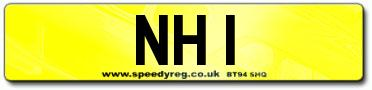 NH 1 Number Plate