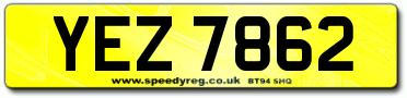 YEZ Number Plates