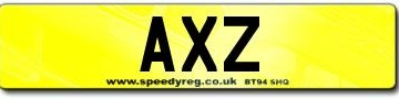 AXZ Number Plates