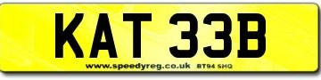 KATE B number plate