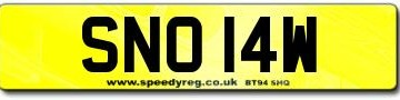 SNOWY Number plates