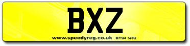 BXZ Irish Number Plates