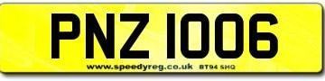 PNZ 1006 Number Plates