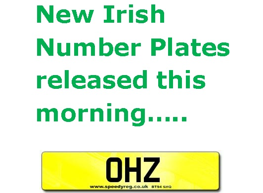 ohz irish number plates have arrived. Black Bedroom Furniture Sets. Home Design Ideas