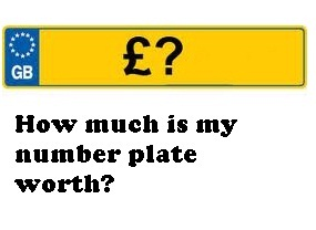 how much is my number plate worth. Black Bedroom Furniture Sets. Home Design Ideas