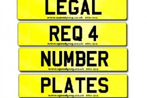 Legal Requirements for number plates