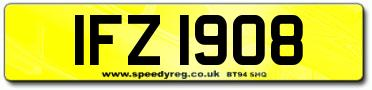 ifz irish number plates available. Black Bedroom Furniture Sets. Home Design Ideas