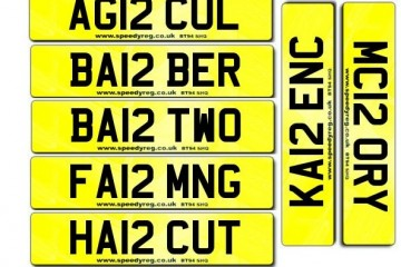 12 Numberplates