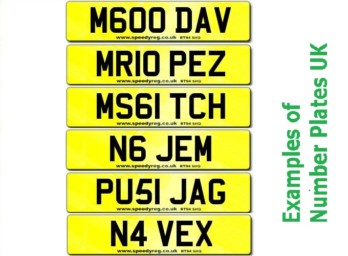 number plates in the uk. Black Bedroom Furniture Sets. Home Design Ideas