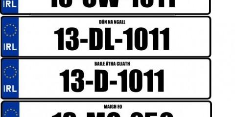 Irish Number Plates