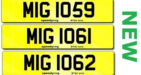 New MIG registrations