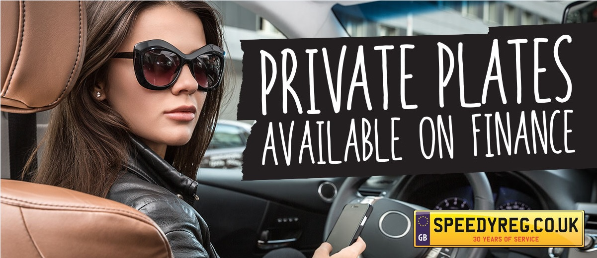 Private Plates available on Finance