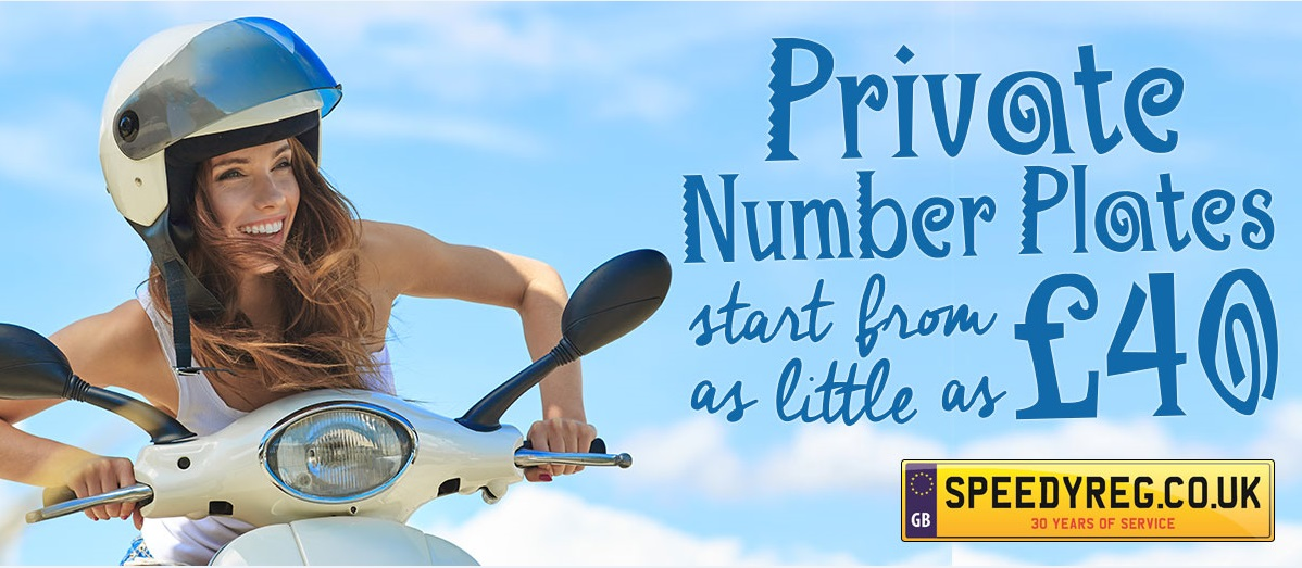 Private number plates start from as little as £40