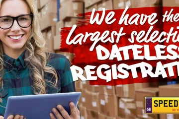 We have largest selection of dateless registrations