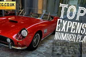 Top 10 most expensive reg's