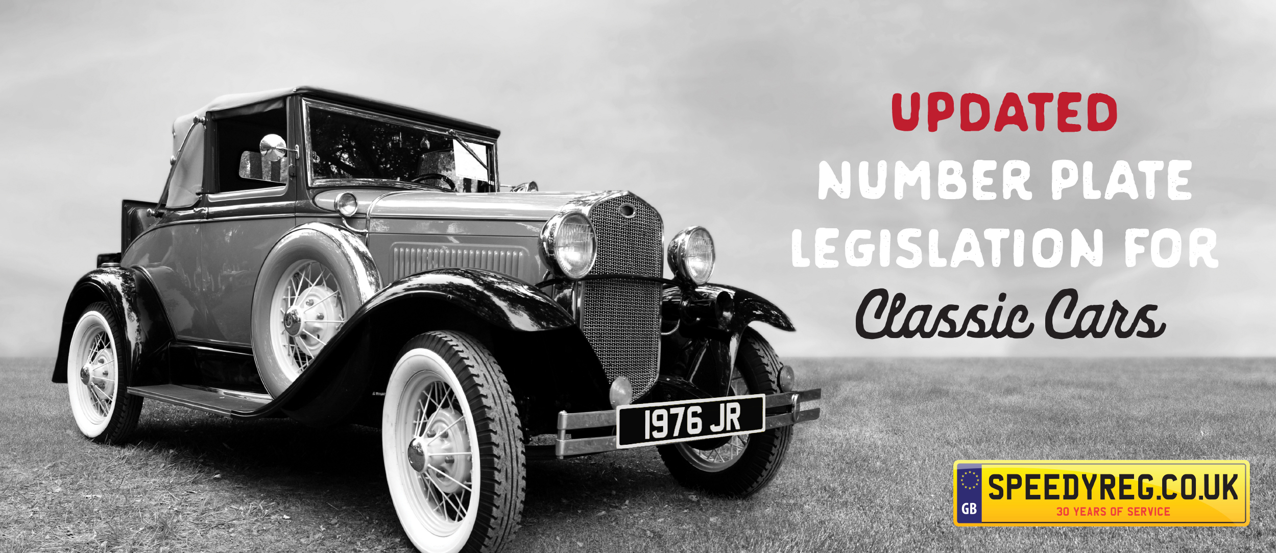 Traditional Black and White Number Plates | DVLA Website Updated