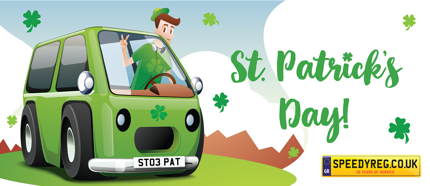st patrick 39 s day 2018 st paddy 39 s day pat number plates. Black Bedroom Furniture Sets. Home Design Ideas
