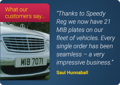 Number Plate Testimonial