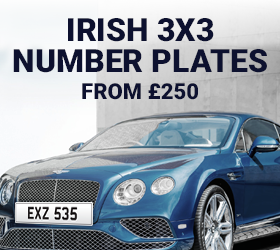 Irish 3x3 Dateless Number Plates From £250