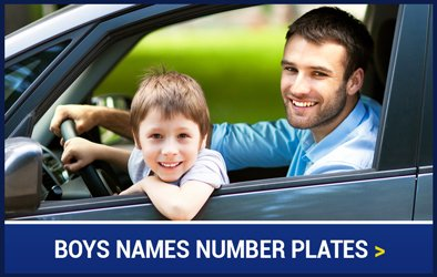 Boys Names Number Plates