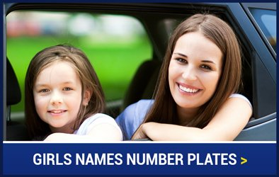 Girls Names Number Plates