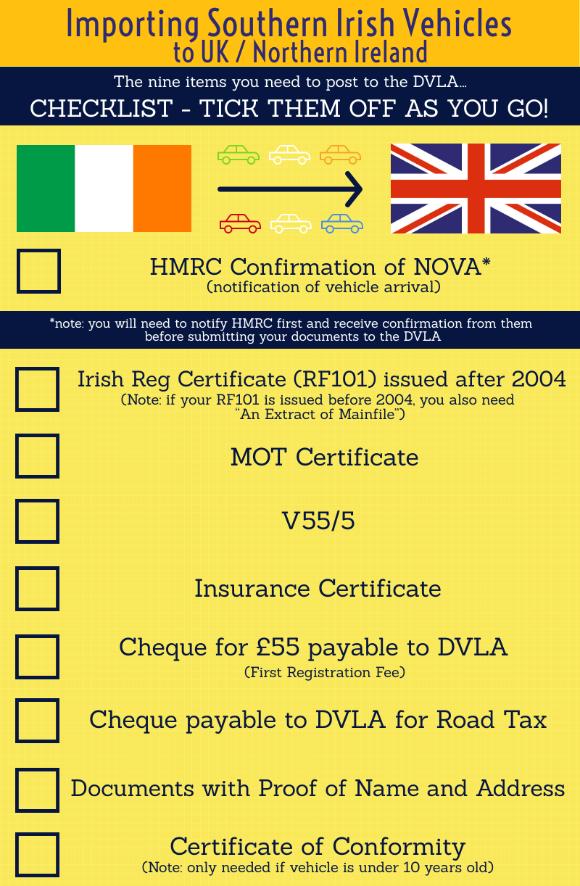 Importing Southern Irish Vehicles To Uk Northern Ireland