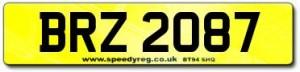 BRZ Number Plates